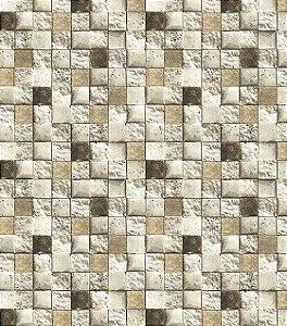 Papel de Parede Mosaico 3D (Italiano)