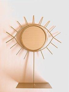 Espelho OLHO GREGO dourado