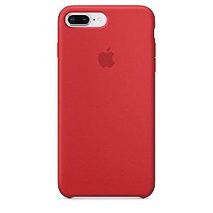 Capa de silicone para iPhone 8 Plus / 7 Plus - Vermelho