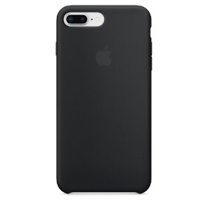 Capa de silicone para iPhone 8 Plus / 7 Plus - Preta