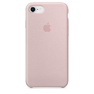 Capa de silicone para iPhone 8 / 7 - Areia-rosa
