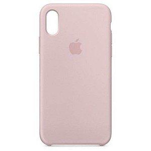 Capa de silicone para iPhone XR - Areia-Rosa