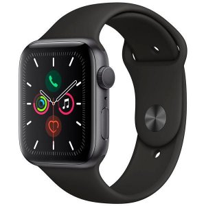 Apple Watch Series 5 44 mm - Seminovo de Vitrine - Space Gray/Black - 6 Meses de Garantia Apple