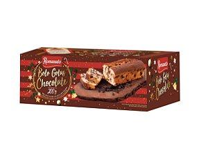 Caixa Fechada: 20 unidades Bolo Romanato Gotas Sabor Chocolate 200g