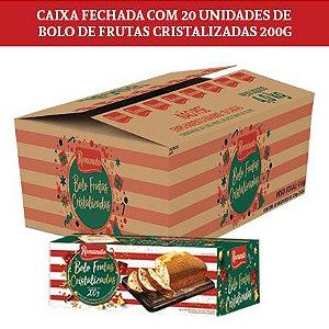 Caixa Fechada: 20 unidades Bolo Romanato Frutas Cristalizadas 200g