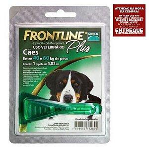 Antipulgas e Carrapatos Frontline Plus para Cães de 40 kg ou mais