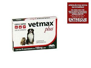 Vermífugo Vetnil Vetmax Plus 700 mg 4 Comprimidos