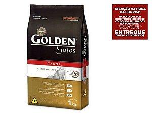Ração Golden para Gatos Adultos Sabor Carne - 3Kgs