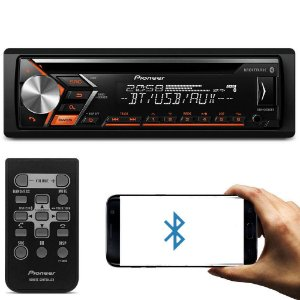 CD Player Automotivo Pioneer DEH-S4080BT 1 Din Bluetooth USB AUX RCA FM MP3 WMA Smartphone Mixtrax