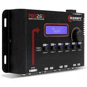 Processador de Áudio Digital Taramps Pro 2.6S Crossover Equalizador 6 Saidas 2 Canais 90dB