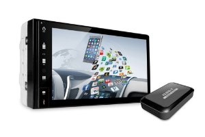 Central Multimídia Slim Universal Tay Tech T200 Android GPS USB DVD Android Bluettoth