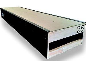 CAIXOTE PARA SKATE DE MADEIRA SAPHU (25 cm) Altura (2.00) Comprimento