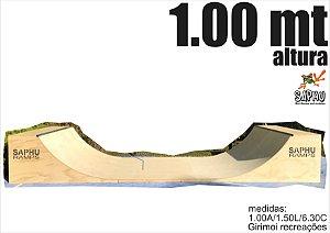 Rampa de Skate de madeira 1.00 (1.00A/1.50L/6.30C) NATURAL, PISO ULTRA