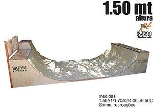 RAMPA DE SKATE QUARTER PIPE ( 1.50 geral + extensão com 1.70 ) MDF ultra acabamento