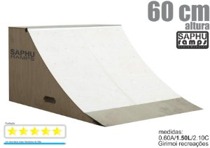 Quarter 60 - Skate meia Rampa para Skate de madeira Saphu Ramps