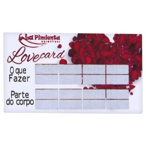 Raspadinha love card 5 unidades la pimienta