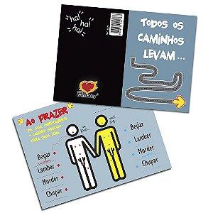 Cartão Gay Todos os Caminhos 05 Unidades Sexy Fantasy