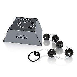 Conjunto Bolinha Tailandesa Metallic cor Preta - 05 Esferas