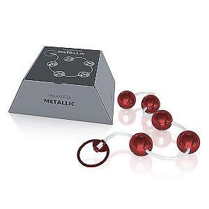 Conjunto Bolinha Tailandesa Metallic cor Vermelha - 05 Esferas
