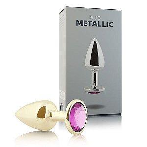 Plug Anal Metallic Dourado - 7cm x 2,5cm