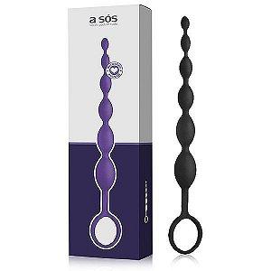 Plug Massageador Sensation Preto – 25,5cm x 2cm
