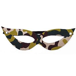 Máscara Tiazinha Luxo Camuflado Dominatrixxx