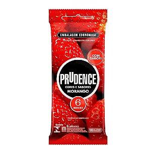 Preservativo Morango Com 6 Unidades Prudence