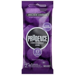 Preservativo Uva Com 6 Unidades Prudence