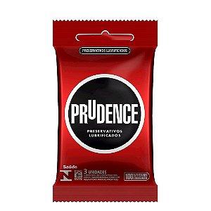 Preservativo Lubrificado Com 3 Unidades Prudence