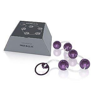 Conjunto Bolinha Tailandesa Metallic cor Lilás - 05 Esferas