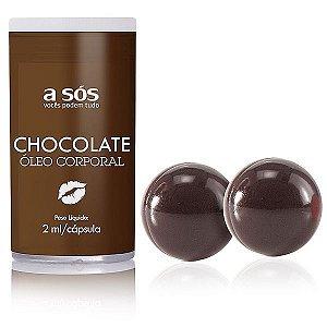 Cápsula Beijável aroma Chocolate com 02 unidades