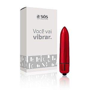 Cápsula Vibratória Power Full cor Vermelha - 8,5cm X 1,5cm