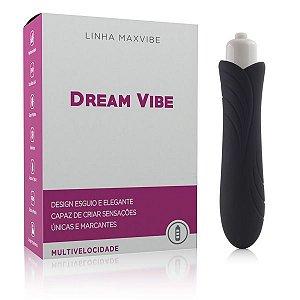 Mini Vibrador Estimulador Dream Vibe Henry cor Preta - 12cm X 2,5cm