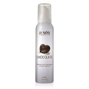 Mousse Corporal Aerossol Beijável Chocolate - 166ml/90g