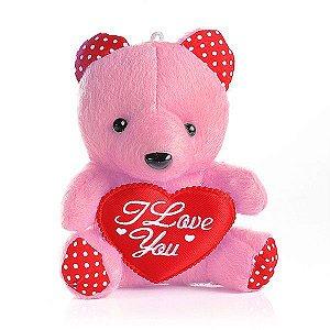 Mini Ursinho em Pelúcia - Rosa