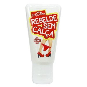 Rebelde Sem Calça Gel Anal 15g Hot Flowers