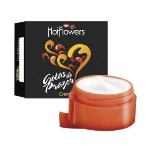 Gotas do Prazer Creme Pote 4g Hot Flowers