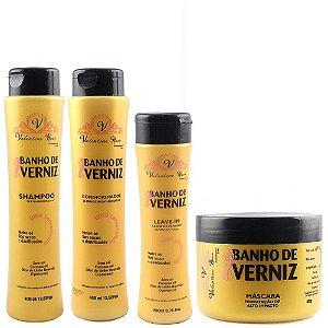 Banho de Verniz Kit Shampoo Valentine Hair