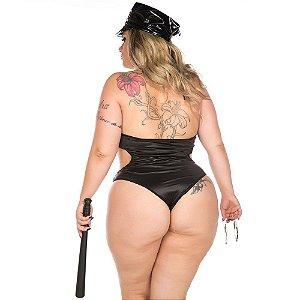 Fantasia Clássica Policial Luxo Plus Size Sexy Pimenta Sexy