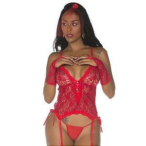 Kit Fantasia Noiva Fogosa Body Pimenta Sexy
