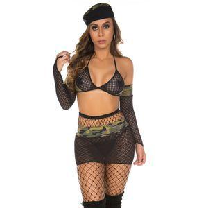 Fantasia Clássica Militar Sexy Pimenta Sexy