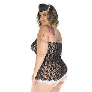 Kit Fantasia Plus Size Empregada Sexy Pimenta Sexy