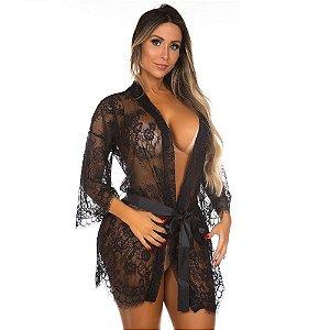 Robe Sensual Veneza Chantilly Pimenta Sexy
