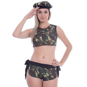 Kit Fantasia Militar Elisa Amareto