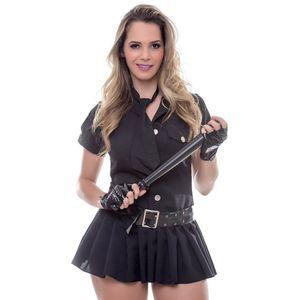 Kit Fantasia Policial Vestido a Amareto