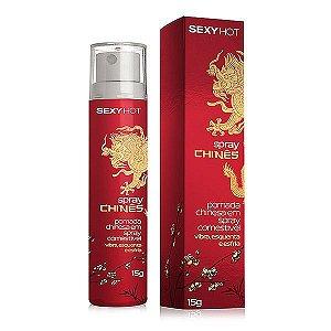 Spray Chinês, - Gel aromatizado - Vibra, esquenta e esfria!