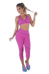 Calça Legging Rosa Fitness