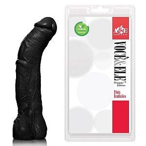 Monster 26x5 cm com escroto na cor preto