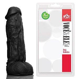Prótese com escroto Kong - 19,5x5,5 cm na cor preto