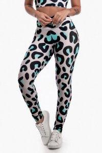 Calça Legging Sublimada Blue Panthera